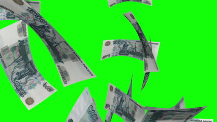 Falling Rubles (Loop on Greenscreen)