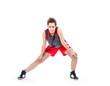 Basketball woman exercising