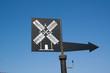 Panneau indicateur de moulins en Bretagne à la Pointe du Van