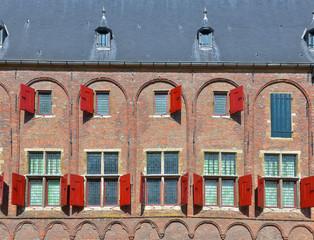 Medieval building in Middelburg in province Zeeland