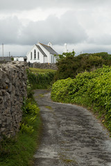 Aran island lane to church, Inisheer