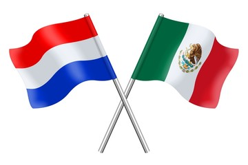 Flags : The Netherlands and Mexico