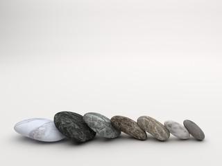 Zen stones row
