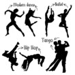 Vector Dancer Silhouettes - 65793213