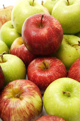 Green And Red Apple Pile