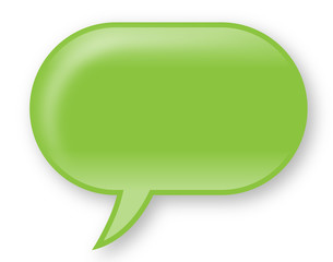 Hellgrüne, glänzende Sprechblase – Vektor/freigestellt