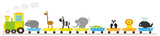 animals long train- vectors ilustration for kids
