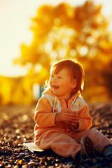 baby girl daughter on beach