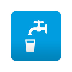 Etiqueta tipo app azul simbolo agua potable