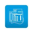 Etiqueta tipo app azul simbolo fax