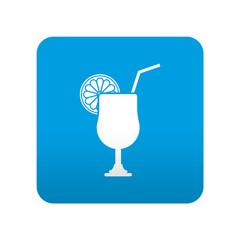 Etiqueta tipo app azul simbolo combinado