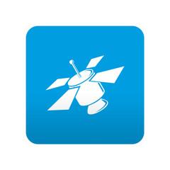 Etiqueta tipo app azul simbolo satelite artificial