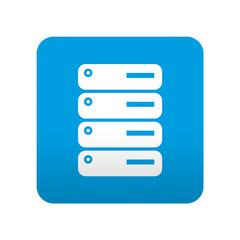 Etiqueta tipo app azul simbolo servidor