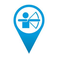 Icono localizacion simbolo tiro con arco