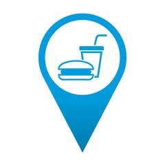 Icono localizacion simbolo fast food