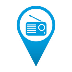 Icono localizacion simbolo receptor de radio