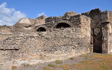 Ruins of houses in Pompeii