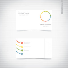Business card template set, vector eps10