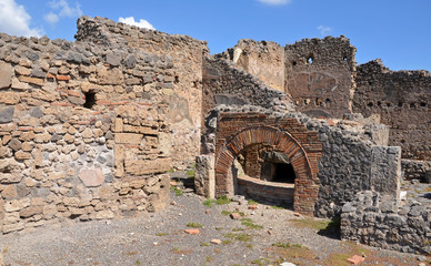 Ruins of ancient Roman city of Pompeii