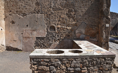 Ruins of ancient Roman city of Pompeii