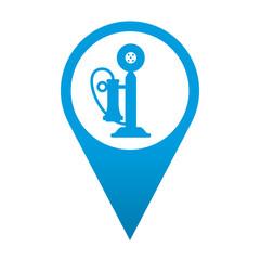 Icono localizacion simbolo telefono antiguo