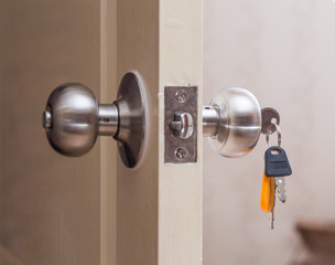 Door knob with keys