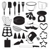 Baking Tool Icons Set