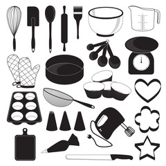 Baking Tool Icons Set
