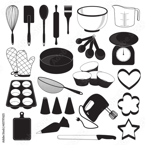 Baking Tool Icons Set - 65797625