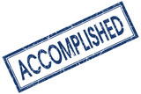 Accomplished blue square grungy isolated stamp poster