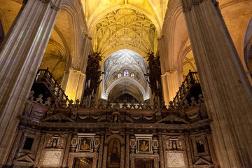 interior of Cathedral of Seville, Andalusia, Spain