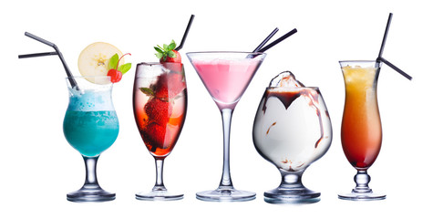 Summer refreshing cocktails