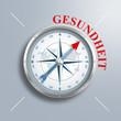 """canvas print picture - Kompass mit dem Wort """"Gesundheit"""""""
