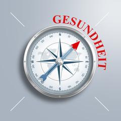 """Kompass mit dem Wort """"Gesundheit"""""""