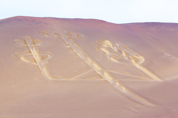 Candelabra, Peru, ancient mysterious drawing in the desert