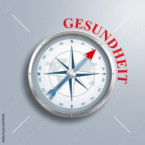 """canvas print picture Kompass mit dem Wort """"Gesundheit"""""""