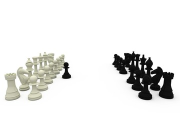 Black pawn defecting to white side