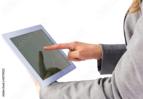 Businesswoman using a tablet pc