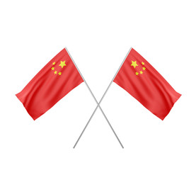 two crossed  Flag of China