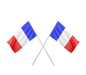two crossed  Flag of France