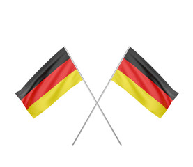 two crossed  Flag of Germany