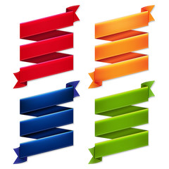 Color Ribbon Banners Set