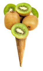 Cono gelato gusto kiwi