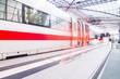 Leinwandbild Motiv high speed train