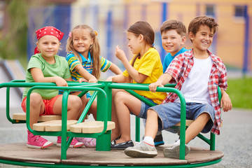 Kids on carousel