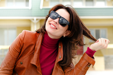 Candid Photo of a Woman in Shades