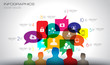 Social Media and Cloud concept Infographic background