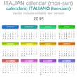 2015 Calendar Italian Language Version Mon – Sun