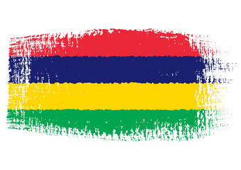 brushstroke flag Mauritius