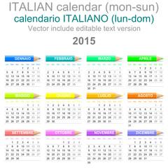 2015 Crayons Calendar Italian Version